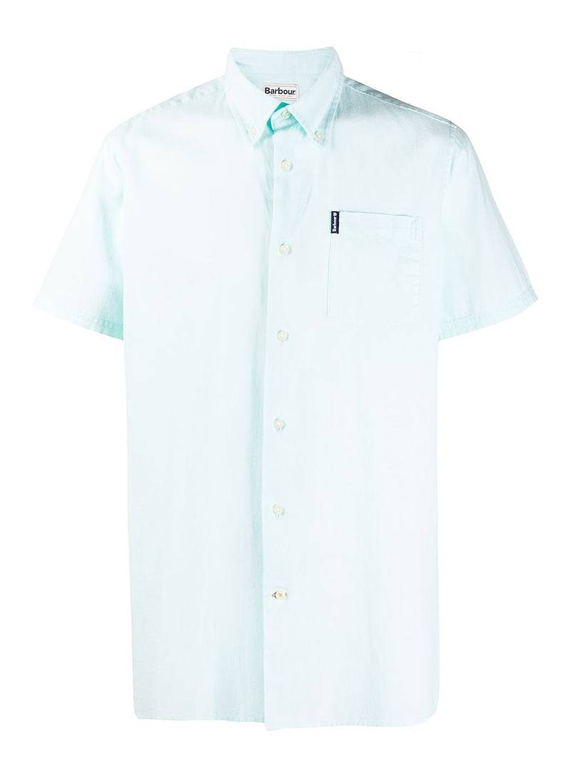 barbour oxford 9 s s tf shirt mint green ss 2020
