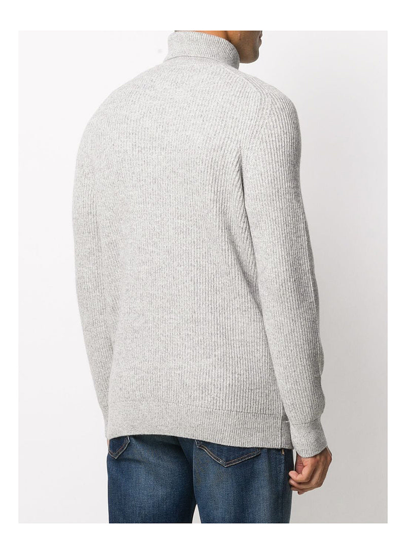 Roll Neck Knit Jumper - Ecru
