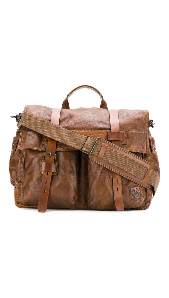 Belstaff Colonial Leather Messenger Bag - Cognac