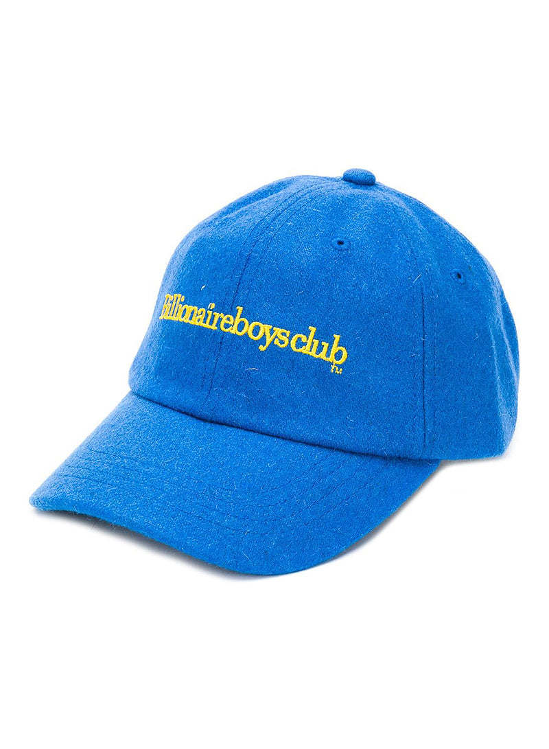 Embroidered Wool Cap - Blue