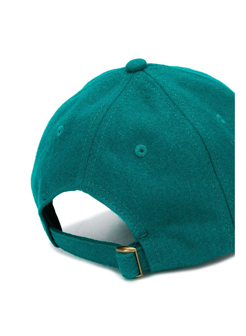 Embroidered Wool Cap - Green