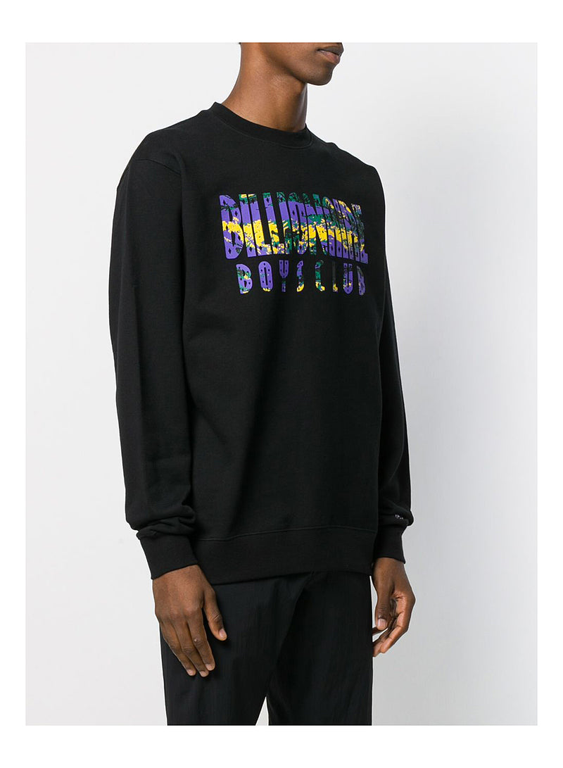 Straight Logo Fill Sweatshirt - Black