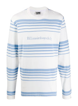 billionaire boys club striped knit l s tee white ss 2020