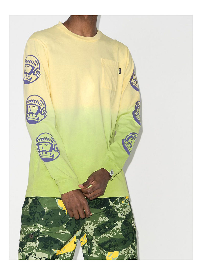 Dip Dye Long Sleeve Tee - Lime