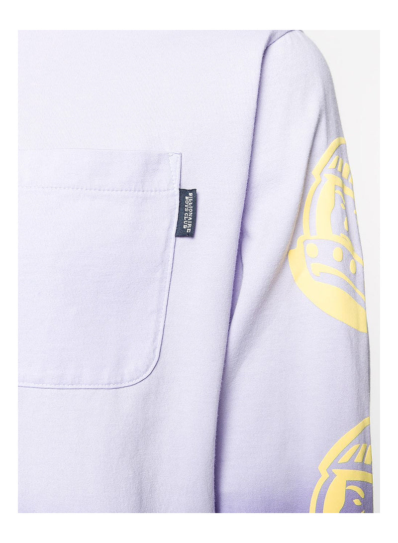 Dip Dye Long Sleeve Tee - Purple
