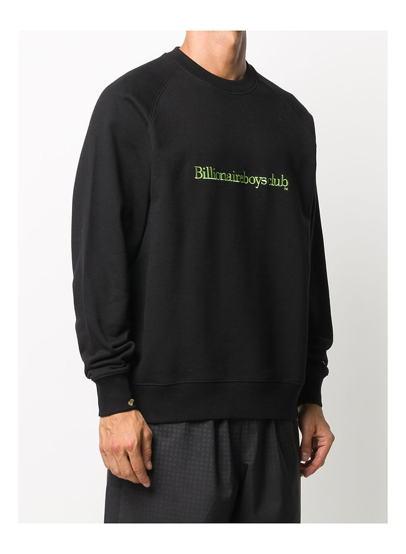 Embroidered Logo Crewneck Sweat - Black