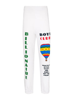 billionaire boys club hot air balloon sweatpant white aw 2020
