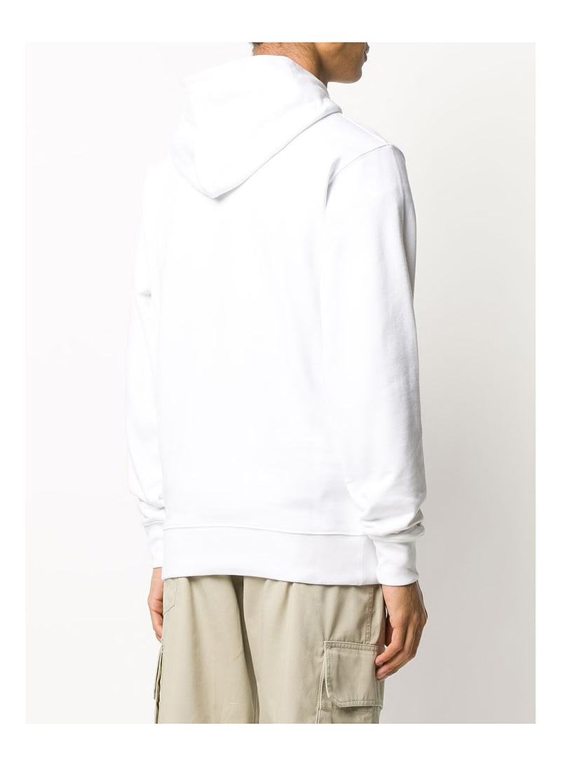 Leopard Pullover Hoody - White