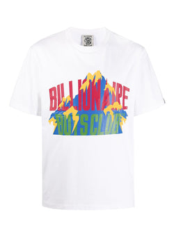 billionaire boys club mountain logo tee white aw 2020
