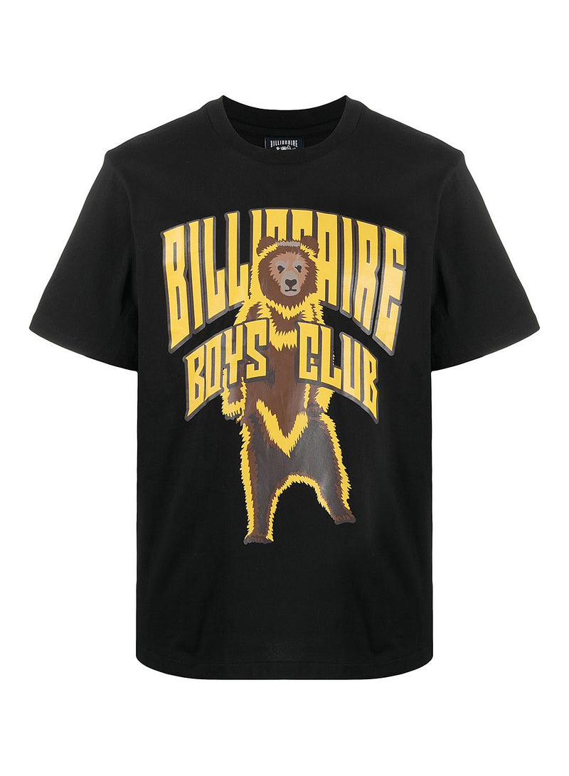 billionaire boys club standing bear logo tee black ss 2021