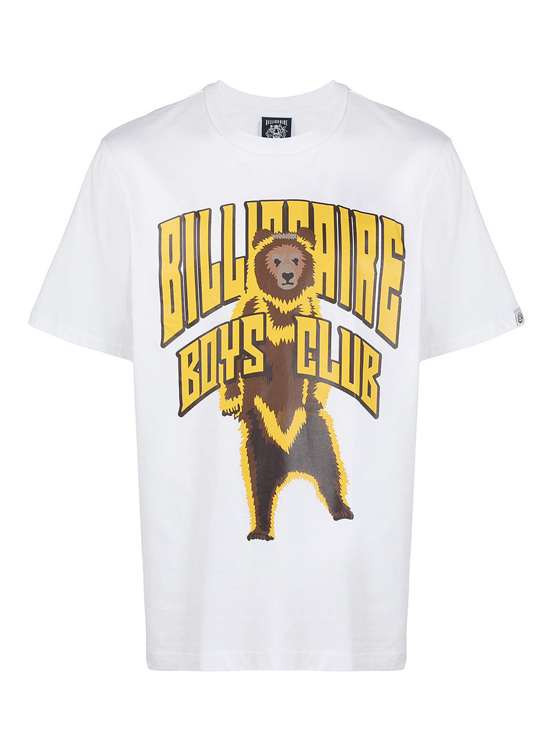 billionaire boys club standing bear logo tee white ss 2021