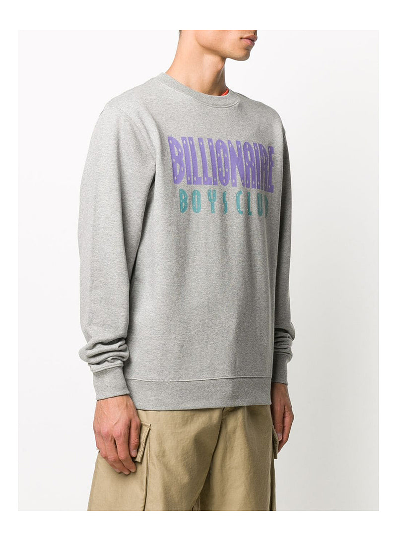 Straight Logo Crewneck Sweat - Heather Grey