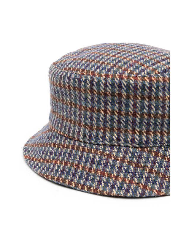 Wool Check Bucket Hat - Grey Check