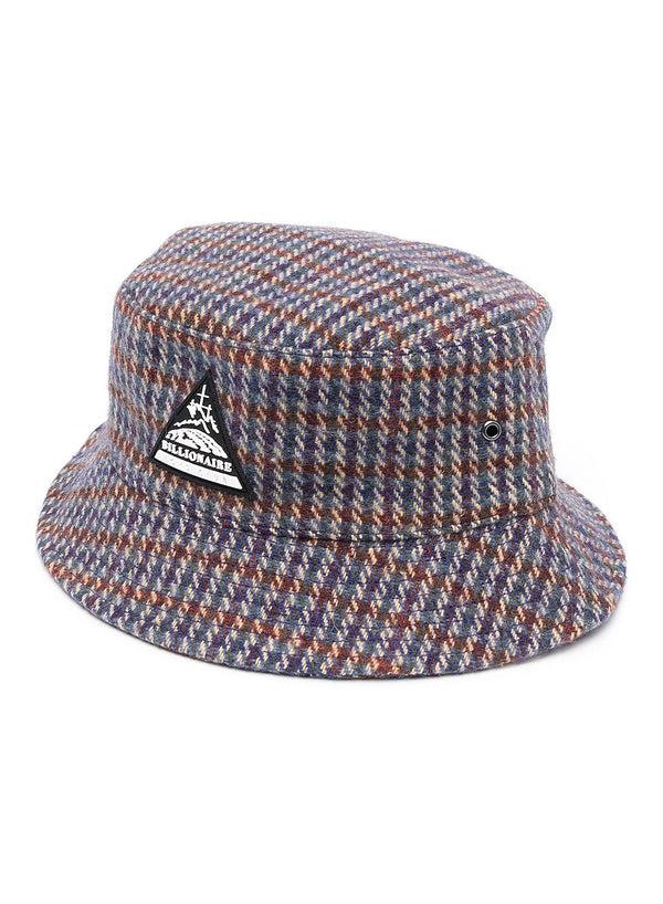 billionaire boys club wool check bucket hat grey check ss 2021