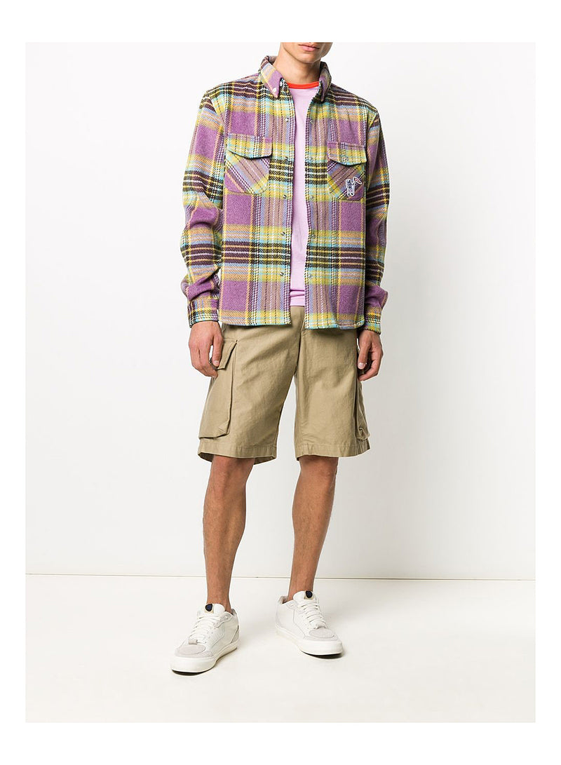 Wool Check Shirt - Purple