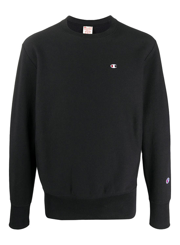 champion crewneck small logo sweat black ss 2020