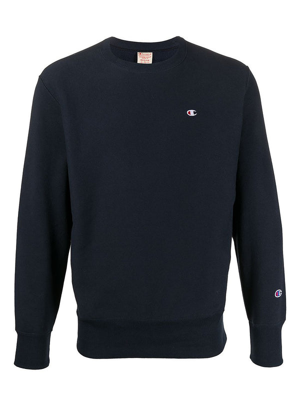 champion crewneck small logo sweat navy ss 2020