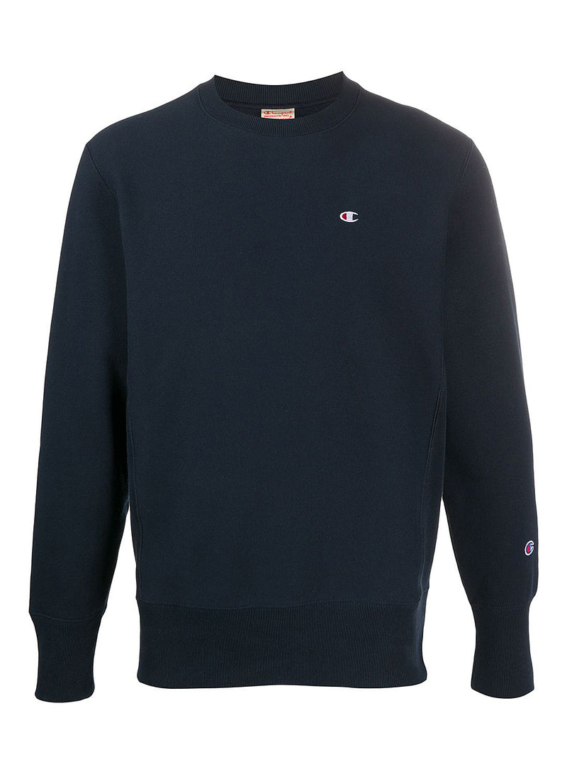 champion reverse weave little logo sweat navy aw 2020