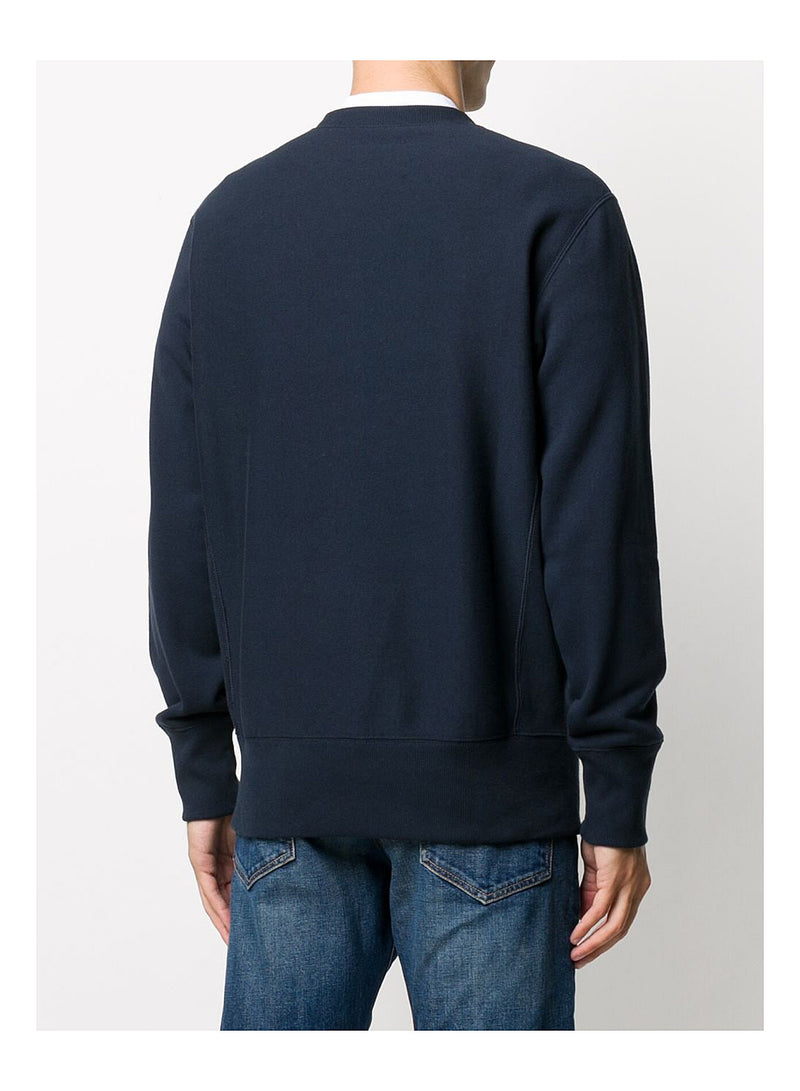 Reverse Weave Little Logo Sweat - Navy