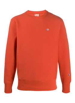 champion reverse weave little logo sweat orange aw 2020