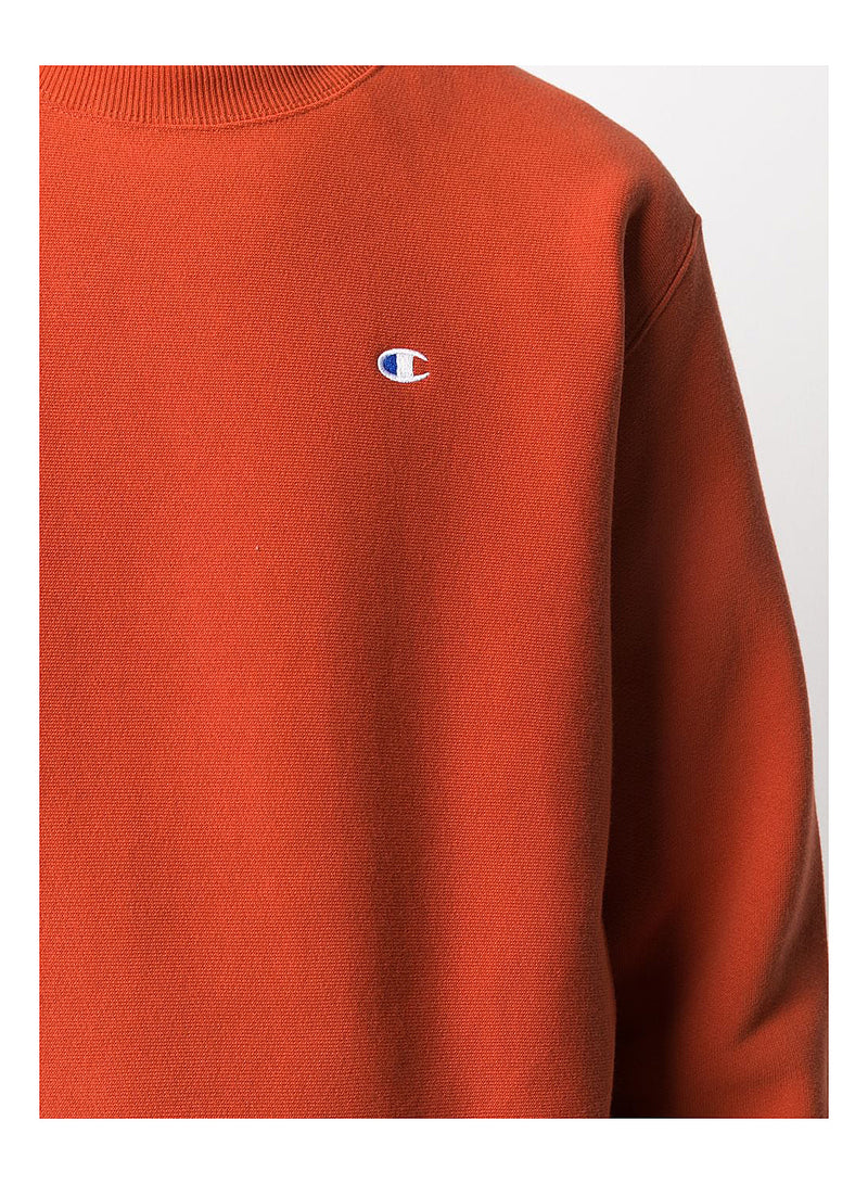 Reverse Weave Little Logo Sweat - Orange