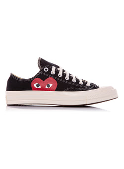 comme des garcons play converse chuck taylor play low trainer black ss 2021