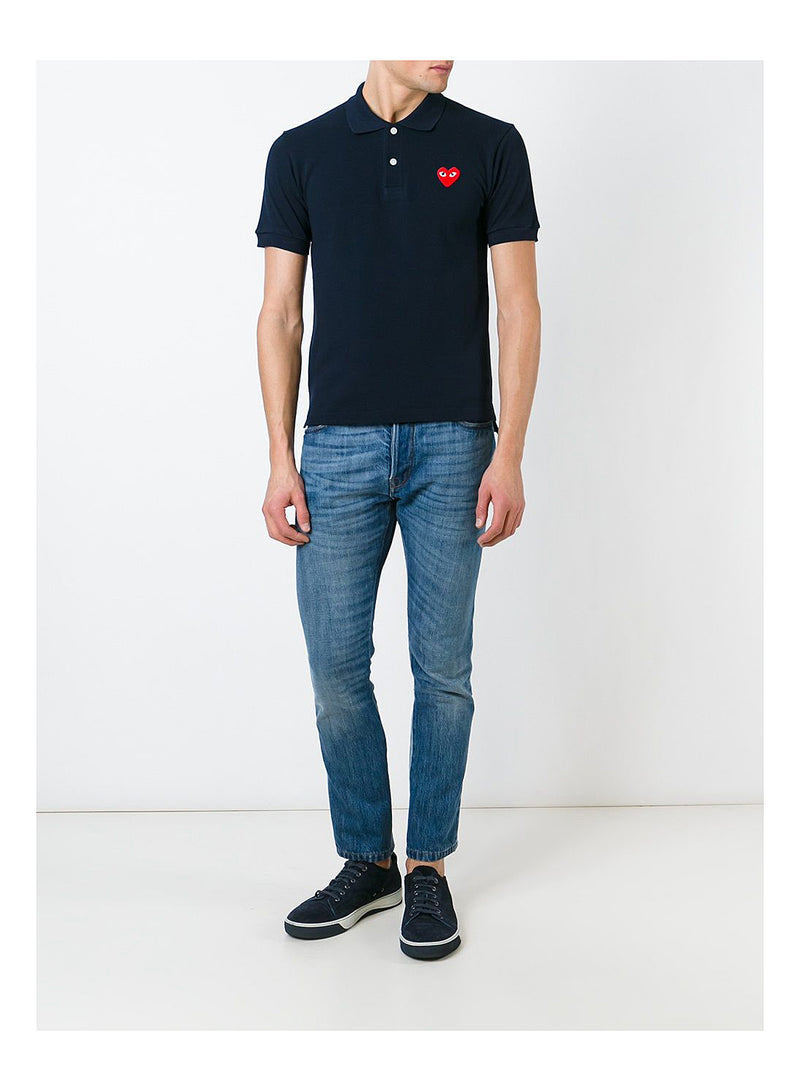 Little Heart Polo Shirt - Navy