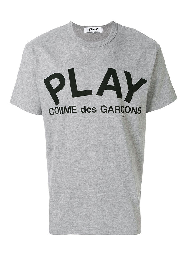 comme des garcons play play tee grey ss 2021