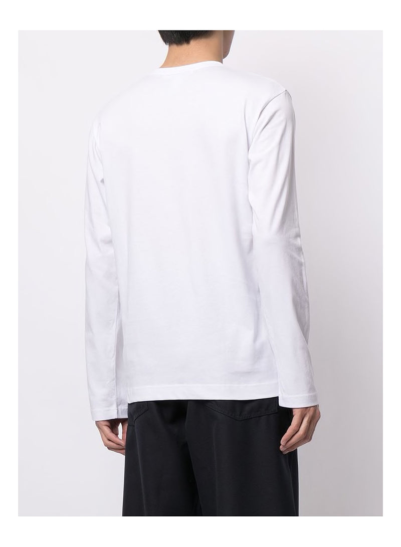 Chest Logo Long Sleeve Tee - White