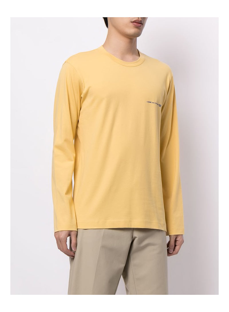 Chest Logo Long Sleeve Tee - Yellow