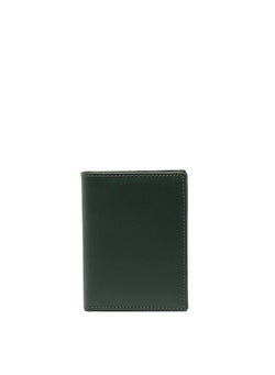 comme des garcons wallet classic leather fold wallet bottle green ss 2021