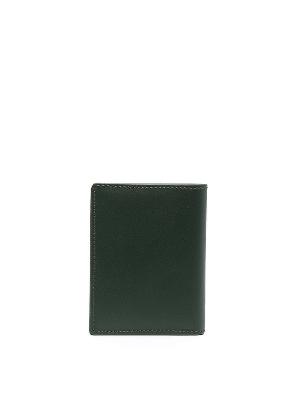Classic Leather Fold Wallet - Bottle Green