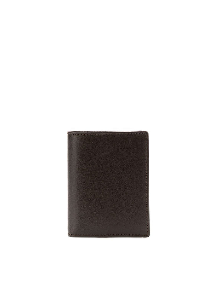 comme des garcons wallet classic leather fold wallet brown ss 2021