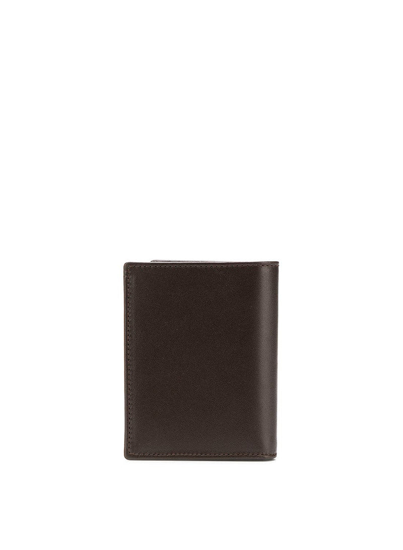 Classic Leather Fold Wallet - Brown