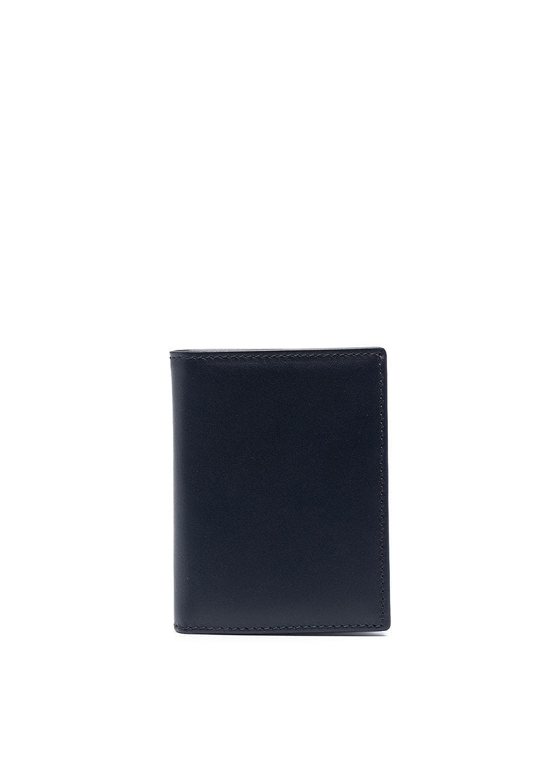 comme des garcons wallet classic leather fold wallet navy ss 2021
