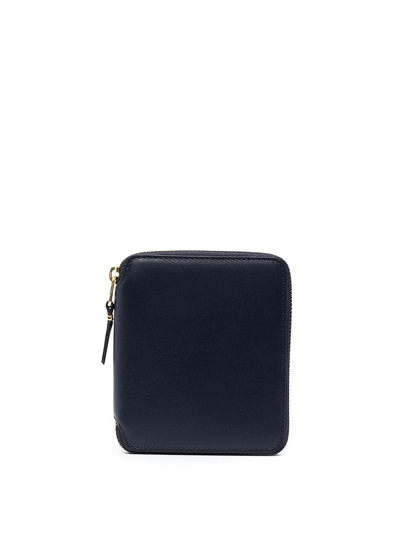 comme des garcons wallet classic leather square zip wallet navy ss 2021