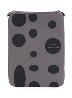 comme des garcons wallet coteciel x cdg black dot ipad case grey ss 2021