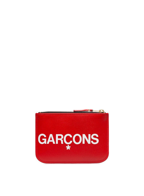 Huge Logo Zip Top Wallet - Red