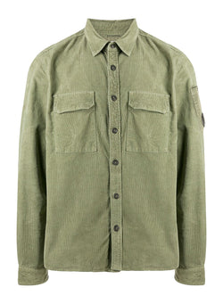 c p company arm lens cord shirt martini olive aw 2020