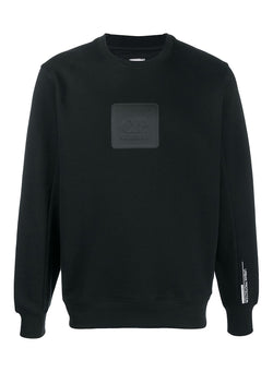 c p company central chest logo sweat black aw 2020