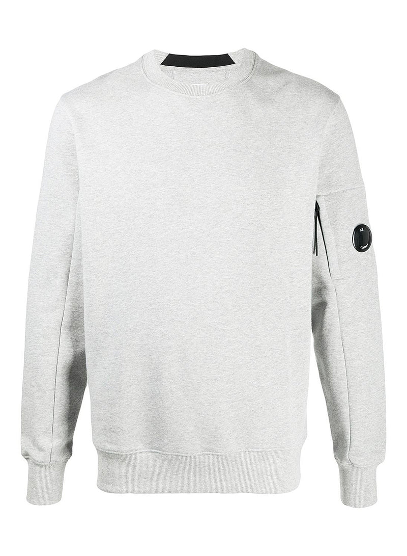 c p company classic arm lens sweat grey melange aw 2020