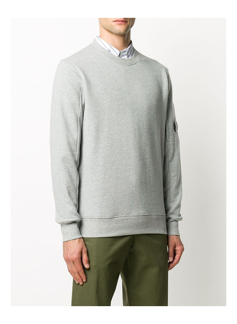 Classic Arm Lens Sweat - Grey Melange