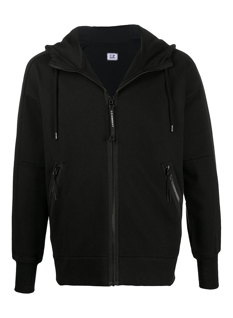 c p company classic goggle hoodie black aw 2020