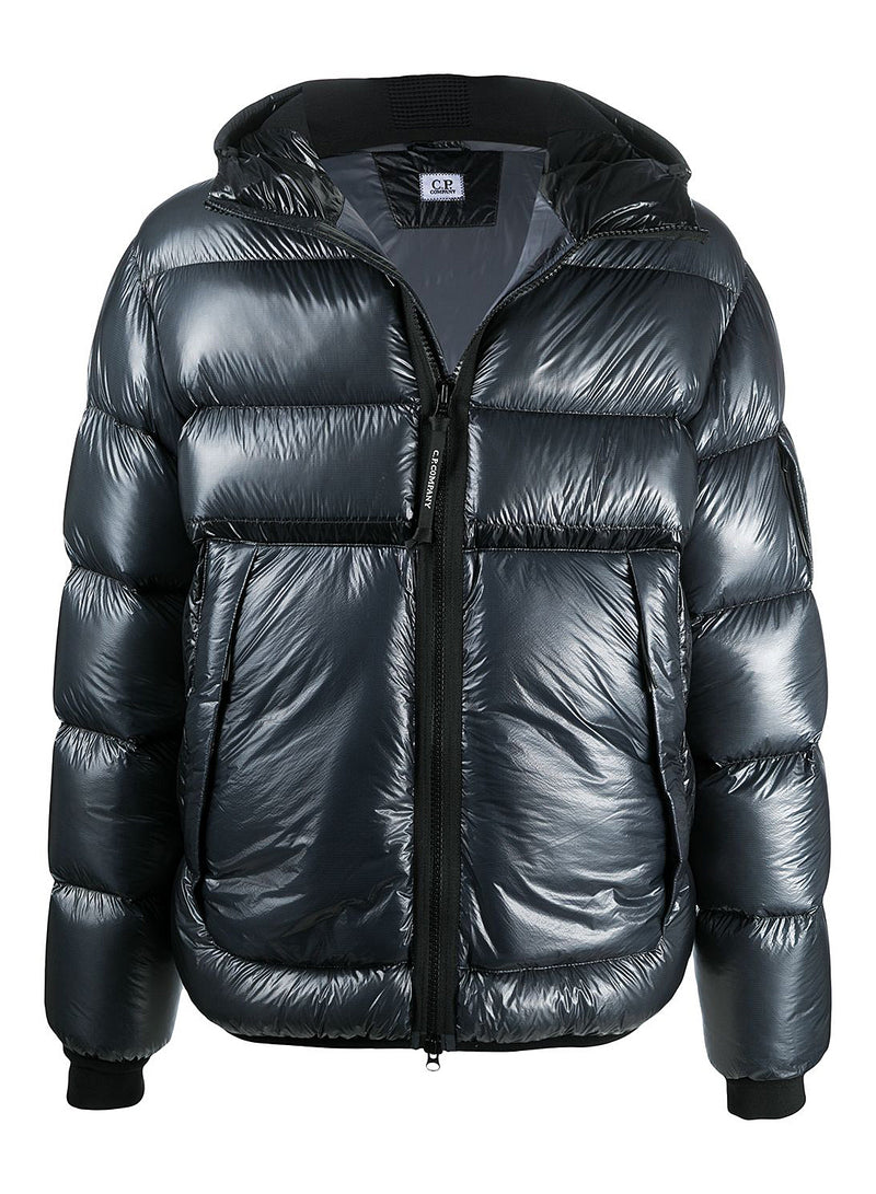 c p company hooded d d shell down jacket ombre blue aw 2020