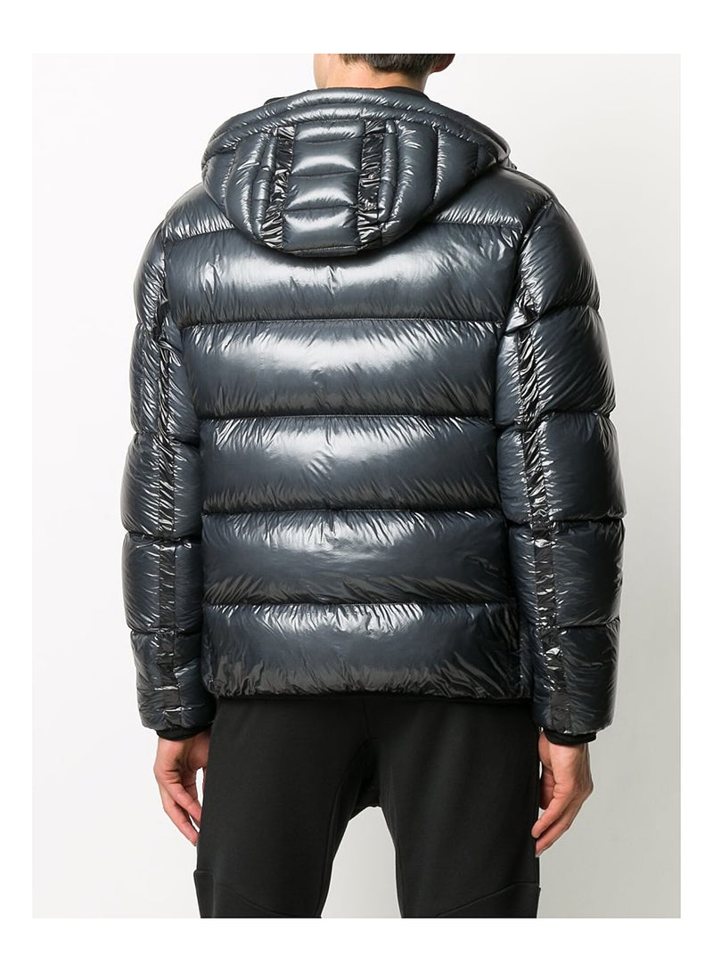Hooded D.D. Shell Down Jacket - Ombre Blue