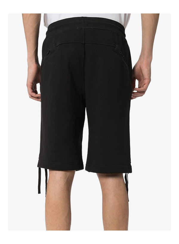 Wrap Around Zip Shorts - Black