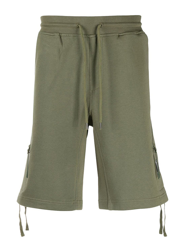 c p company wrap around zip shorts burnt olive ss 2020