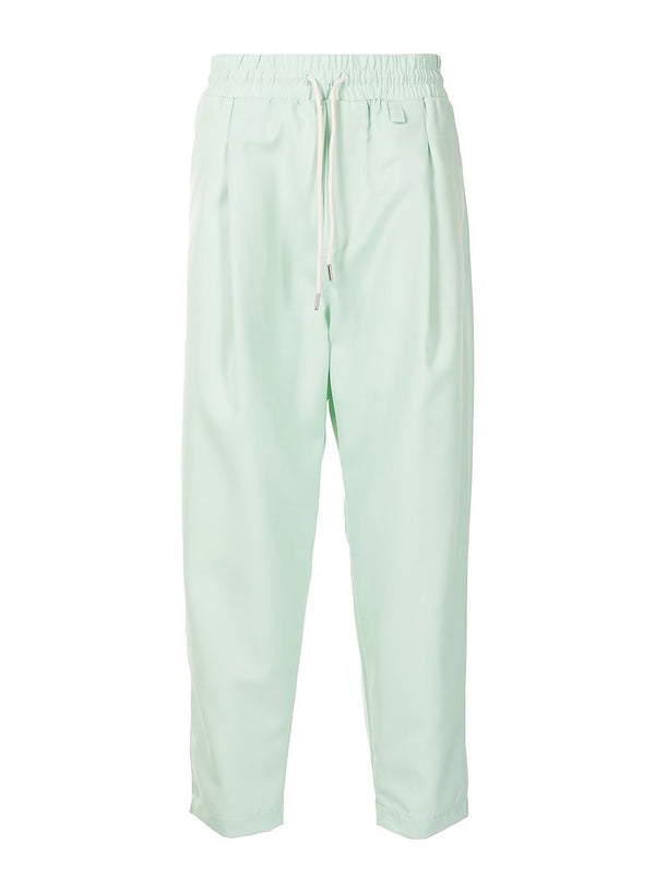 drole de monsieur cropped wool pants light green ss 2021