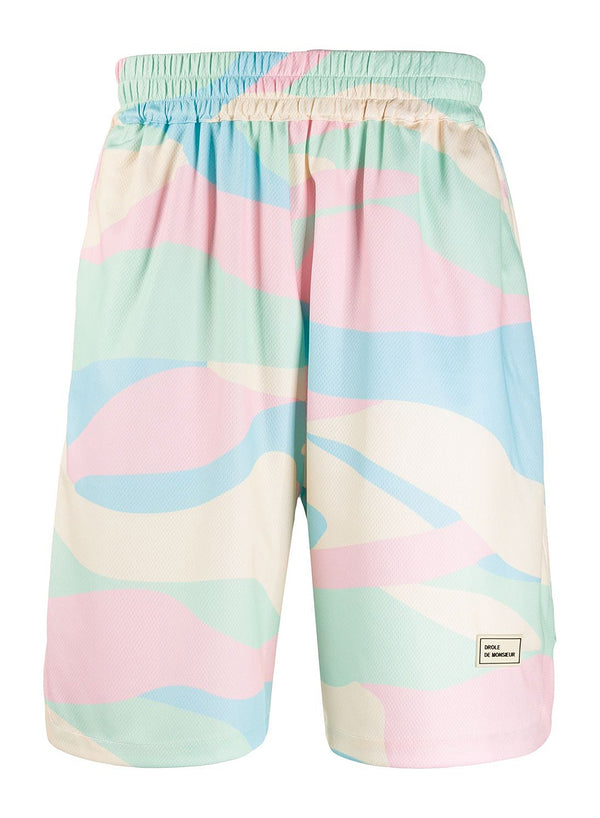 drole de monsieur mesh ice cream shorts multi ss 2020