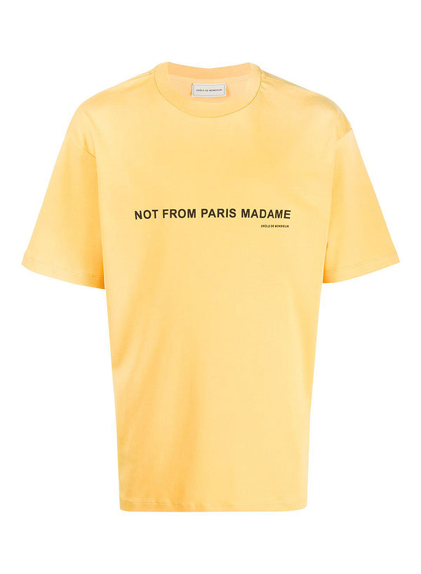 drole de monsieur printed nfpm tee yellow ss 2020